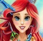 Ariel no cabeleireiro