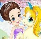 Vestir princesa e unicórnio
