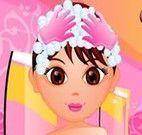 Cuidar dos cabelos da Dora