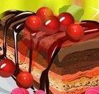 Bolo de chocolate com cobertura de cereja