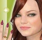 Fazer as unhas de Emma Stone
