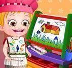 Bebê Hazel brincar e pintar