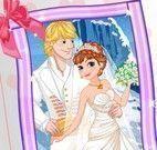 Vestir Anna Frozen noiva
