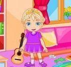 Elsa limpar casa da Páscoa