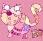 Vestir o gatinho com retalhos