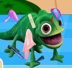 Rapunzel cuidar do Pascal