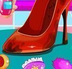Limpeza do sapato sujo