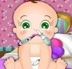 Cuidar do bebê resfriado