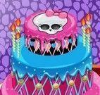 Decorar bolo da Draculaura