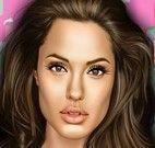Celebridade Angelina Jolie no dentista