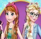 Maquiagem e roupas da Anna e Elsa
