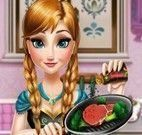 Anna Frozen preparar carne