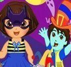 Decorar festa de Halloween da Dora