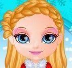 Bebê Barbie cabeleireiro do natal