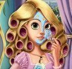 Rapunzel maquiagem de princesa