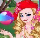 Elsa e Anna na piscina