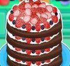Fazer panqueca de chocolate com frutas vermelhas