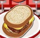 Fazer sanduíche de carne com queijo