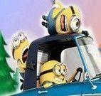 Minion motorista do carro