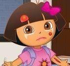 Cuidar do machucado da Dora
