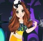 A dançarina da competição