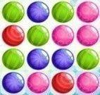 Bolas de cores trincas