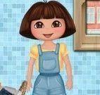 Dora na lavanderia