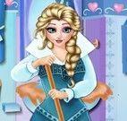 Limpeza do banheiro da Elsa