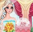 Elsa decorar bolo do casamento
