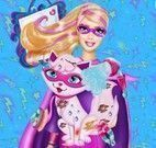Super Barbie cuidar da gata
