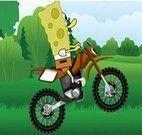 Andar de moto com Bob Esponja