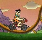 Andar de moto com os Flintstones