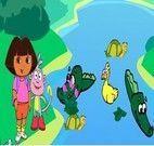 Atravessar o rio de crocodilos com Dora