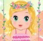 Vestir bebê fada das flores