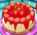 Preparar bolo de morango