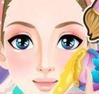 Princesa no spa tratamento facial