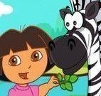 Dora cuidar da zebra