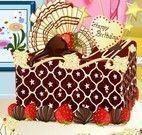 Decoração de bolo de chocolate