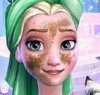 Elsa  fazer limpeza facial