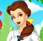 Elsa, Ariel e bela roupas escolar