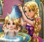 Rapunzel cuidar da bebê