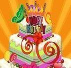Decoração do bolo de aniversário