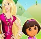 Barbie e Dora chave de casa
