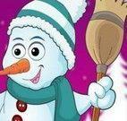 Vestir boneco da neve