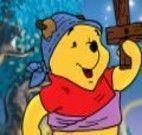 Pintar Pooh na festa de halloween