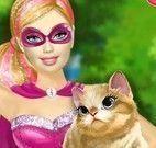 Super Barbie salvar gato