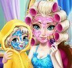 Elsa mamãe e filha no spa