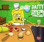 Bob esponja fazendo hambúrguer