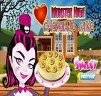 Bolo de chocolate das Monster High