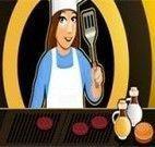Fazer hambúrguer com a Tina